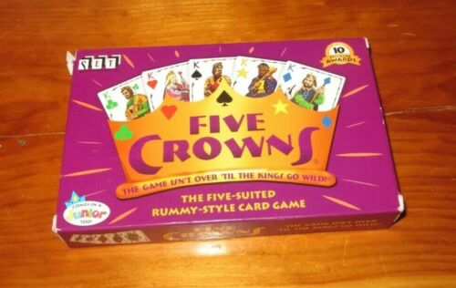 FIVE CROWNS The Five-Suited Rummy-Style Playing Card Game  SET