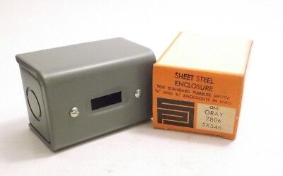 Pass Seymour 7806 Steel Switch Enclosure Standard Tumbler Switch - Prepaid