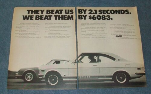 "1972 Mazda RX-2 Vintage 2pg Ad ""...We Beat Them By $6083"""