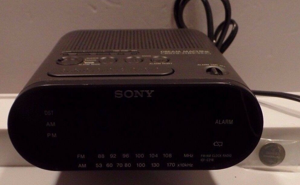 Sony Dream Machine FM/AM LED Alarm Clock Radio, Snooze, Battery Backup(ICF-C212)