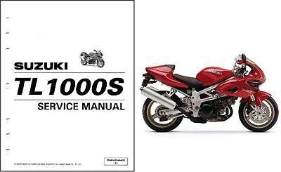 SUZUKI TL 1000 S DEALER WORKSHOP SERVICE MANUAL 1998 - 2001 Paper bound copy