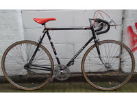 Vintage Single speed bike PEUGEOT hand built frame 23in, NEW TYRES, BRAKES, CHAIN, Saddle - Welcome