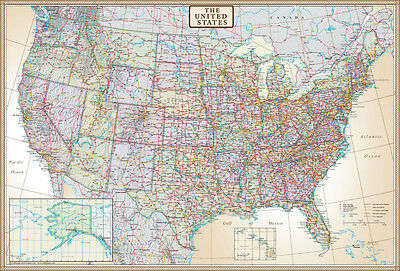 United States Us Usa Wall Map Poster Executive Edition By Swiftmaps