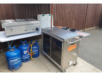 Mobile catering hotdog unit and 6 pot bain marie Can deliver