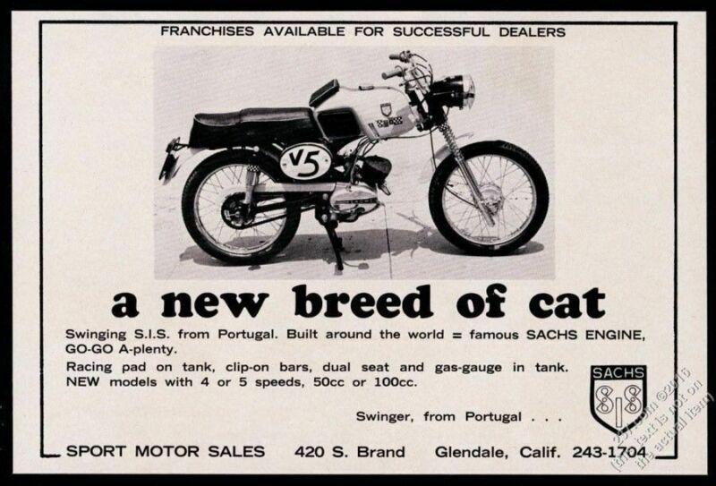 1965 Sachs motorcycle photo vintage print ad
