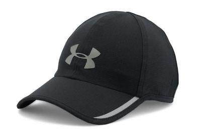 Under Armour Men's Shadow Hat Black Gray Adjustable Cap ArmourVent Run 1278207