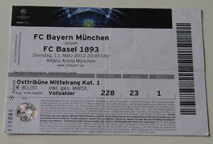 old TICKET CL Bayern Munchen Germany - FC Basel Switzerland Suisse - <span itemprop='availableAtOrFrom'>Poznan, Polska</span> - old TICKET CL Bayern Munchen Germany - FC Basel Switzerland Suisse - Poznan, Polska