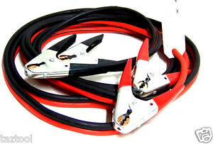 20-FT-2-Gauge-Booster-Cable-Jumping-Cables-Emergency-Jump-start-H-D-Clamps