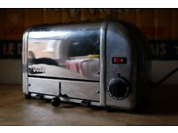 DUALIT CHROME 4 SLICE SLOT TOASTER NEEDS NEW ELEMENTS RRP £250+
