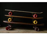 JOB LOT OF THREE RETRO VINTAGE CLASSIC OLD SCHOOL SKATEBOARDS
