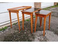 VINTAGE RETRO MID CENTURY TEAK NEST OF TABLES OCCASIONAL COFFEE SIDE