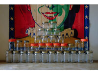JOB LOT VINTAGE RETRO KILNER PRESERVE PICKLE GLASS JARS