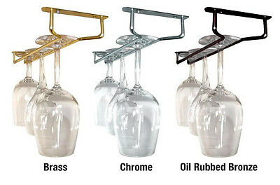 Chrome Stemware - Glass Stemware Hanger Rack - Chrome, Brass, Oil Rubbed Bronze - 10