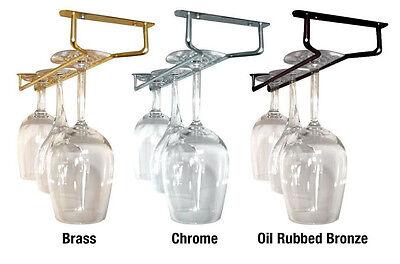 Glass Stemware Hanger Rack - Chrome, Brass, ...