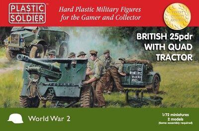 (Plastic Soldier 1/72 British 25pdr & Morris Quad Tractor * 2 # WW2G20006)