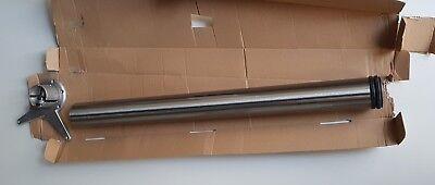 Tischbein 8/71 Rund Küchen Tisch H 71cm Höhenverstellbar Edelstahl Optik