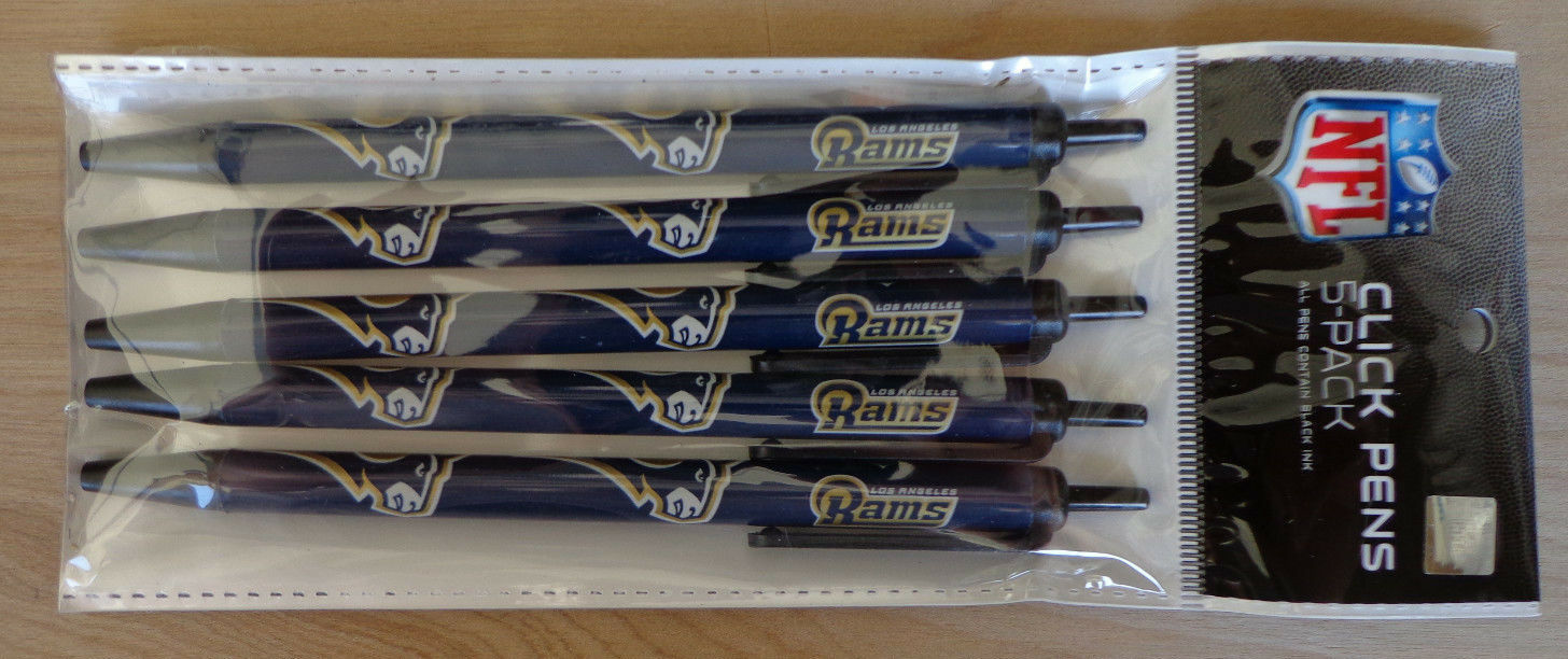 NFL Team Click Pens - 5 pack - ( All Teams ) Black Ink Official Licensed