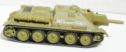 Eaglemoss Diecast Model SU-122 Self Propelled Gun USSR 1/72 Magazine