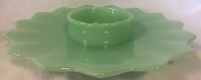 Chip n Dip Platter Bowl - Hobnail Gigi - Jade Jadeite Green Glass - Fenton Mould