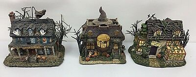 Set of 3 Hawthorne Village The Munsters Halloween Village Collection