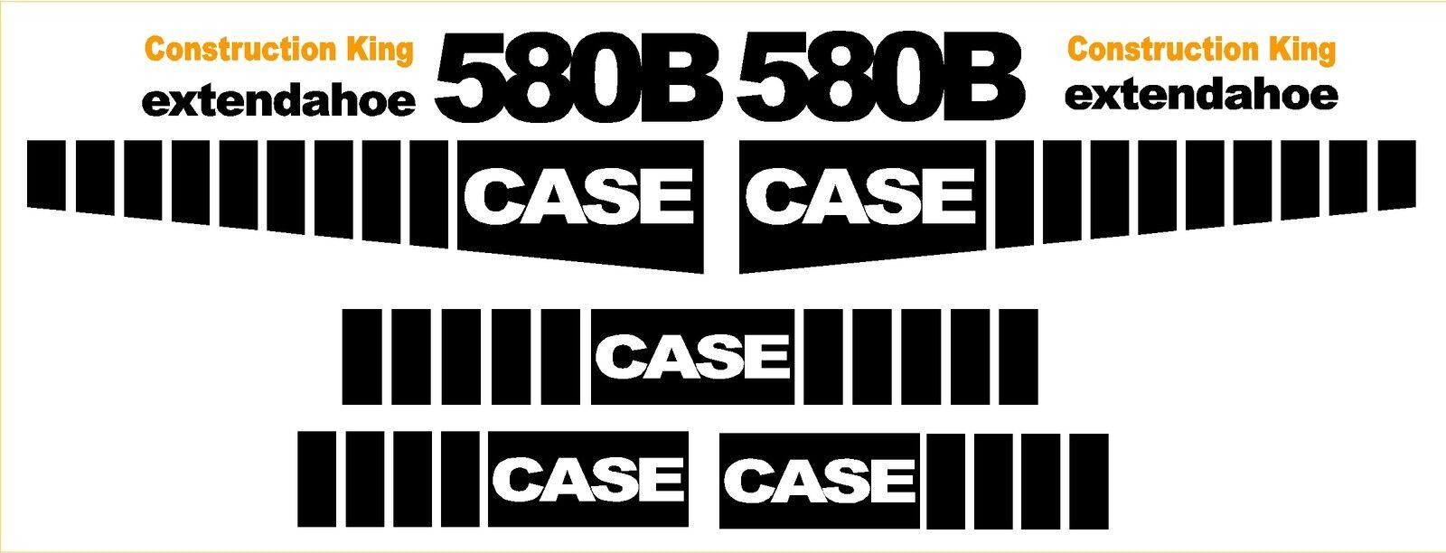 Case 580b Loader Backhoe Extendahoe Decal Sticker Set Decals