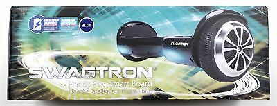 Swagtron T1 Electric Two Wheel LED Scooter Hands Free Blue New