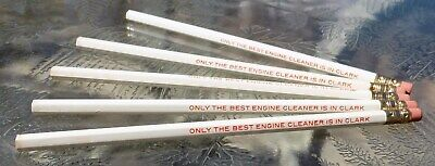 (5) Clark Gasoline Only The Best Engine Cleaner Is In Clark Ruwe Pencils UNUSED -