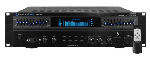 Technical Pro RX113BT 1500w Bluetooth Home Receiver Amplifie