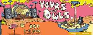 YOURS & OWLS FESTIVAL 2016 01/OCT/2016 SATURDAY ONLY Rockdale Rockdale Area Preview