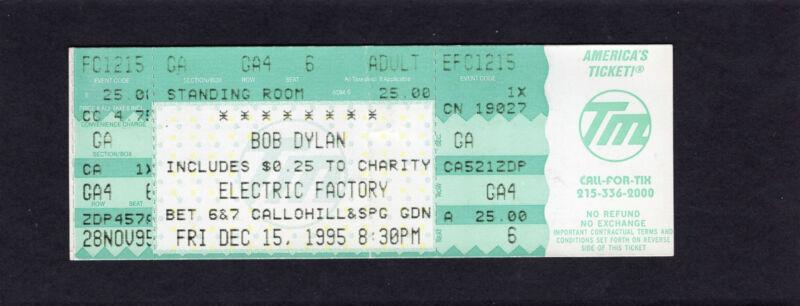 1995 Bob Dylan Patti Smith Concert Ticket Stub Philadelphia PA World Gone Wrong