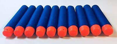 100 BLAUE Nachfüll Soft-Darts (Schaumstoffpfeile) 7,2cm x 1,3cm