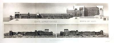 Usado, 272 ~ BAALBEK BALBEC TEMPLE BACCHUS LEBANON ~ 1910 Roman Architecture Art Print comprar usado  Enviando para Brazil