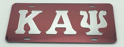 Kappa Alpha Psi - Red Mirror License Plate