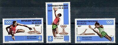 Weeda Benin C250-C252 VF MNH 1976 Olympics set CV $6.25