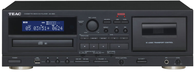 Teac AD-850 CD Player and Cassette Deck (Open-Box)