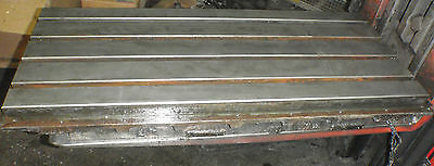 43.25 X 17.5 X 1.5 Steel Table Cast Iron Layout Fixture Plate Weld 4 Slot