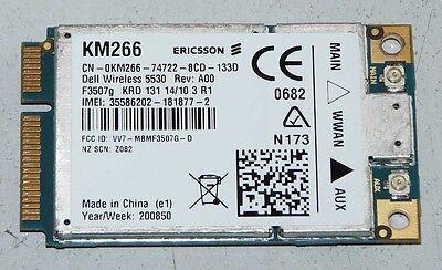 Dell Wireless 5530 Wireless HSDPA 3G Modem WWAN KM266 / Ericsson F3507g HSUPA
