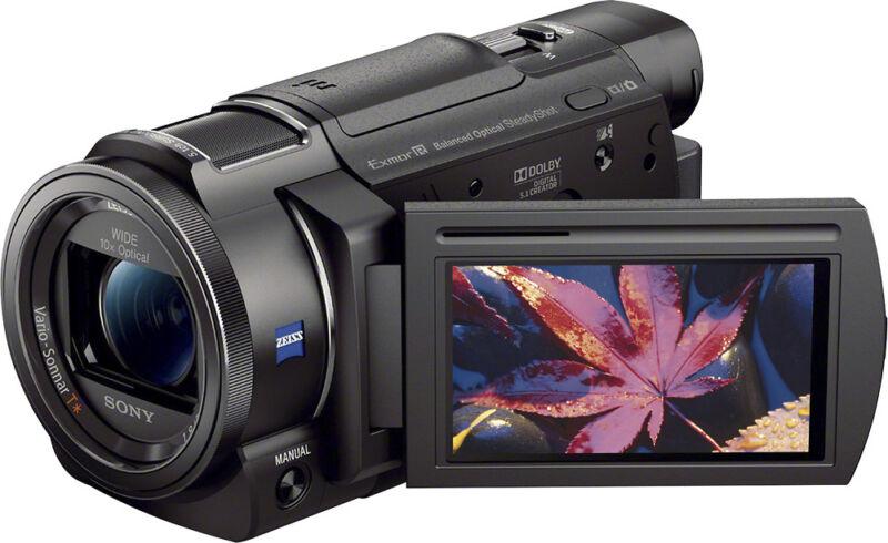 Sony Handycam AX33 4K Flash Memory Camcorder Black FDRAX33/B