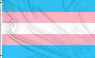 Transgender Pride Flag 3x5ft with Grommets LGBTQIA Trans Pride with Grommets Décor