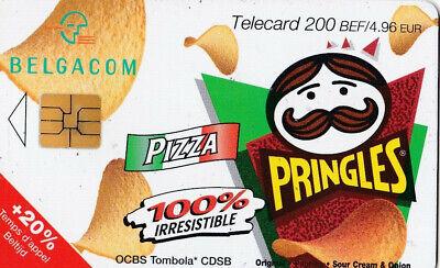 L2 ) telecarte  200 francs pringles pizza (snack pringles 50 gr) PK 050