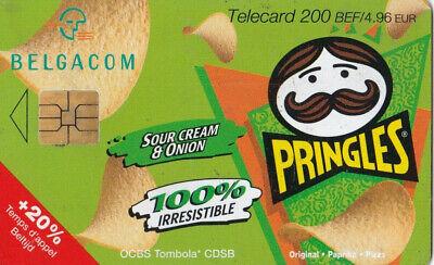 L2 ) telecarte  200 francs pringles cream & inion(snack pringles 50 gr) PK311