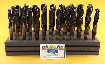 Drill Hog® Silver & Deming Drill Bit Set M7 Index 33 Pc 1/2~1