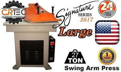 New Cjrtec 27 Ton Swing Arm Clicker Press Large Signature Series 2017