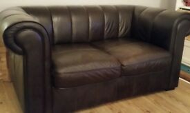 Chesterfield style leather sofas