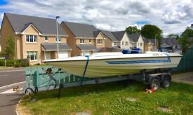 Driver 510 Speedboat with Yamaha outboard and twin axle trailer
