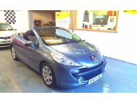 2007 PEUGEOT 207 CC 1.6 SPORT 2DOOR CONVERTIBLE, ONE OWNER FROM NEW, SERVICE HISTORY, CLEAN CAR