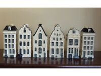 6 Minature Dutch Delft Houses from KLM postage included
