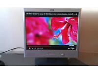 "HP Pavilion F1523 15"" LCD monitor Built-in microphone, stereo speakers, VGA , AC and Audio Cables"