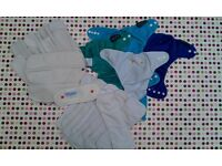 Pre loved bundle of 12 washable nappies in Bristol