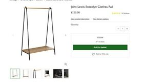 John Lewis Brooklyn Clothes Rail - recently purchased, barely used. Excellent condition